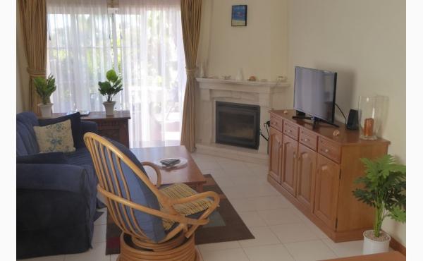 Wohnzimmer mit Klimaanlage und Kamin / Livingroom wit Aircon and Fireplace